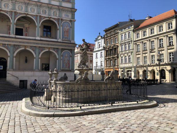 Fontanny na Starym Rynku w Poznaniu